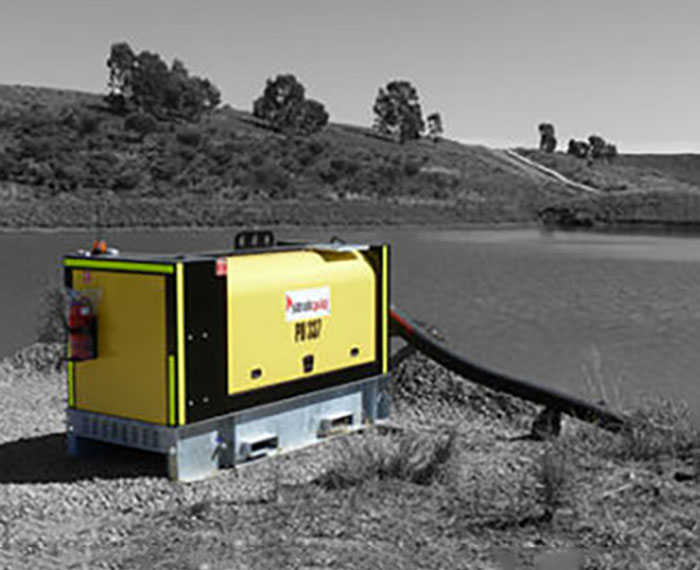 Silenced dewatering pump